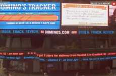 Crowdsourced Pizza Opinion Ads - The Dominos Customer Comment Ticker is Unveiled in NYC