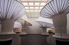 Giant Mushroom Seating - The reOrder Installation Shows the Scale of the Brooklyn Museum's Entrance