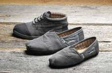 Bearded Botas Kicks - TOMS Movember Shoe Helps Change the Face of Men's Health