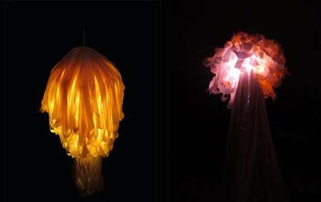Ribboned Sea Creature Lighting