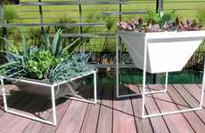 Modular Modern Planters - The Trapa System is Convenient and Contemporarily Stylish