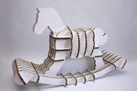 Cardboard Rocking Horses