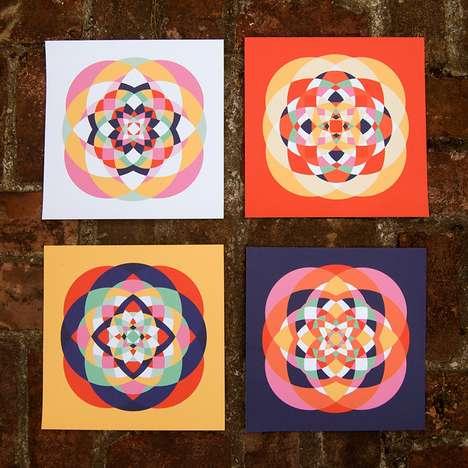Patriotic Kaleidoscope Art
