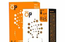 Effervescent Fluorescent Branding - OP Light Bulb Packaging Has a More Lively Look than Usual