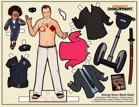 Paper TV Dolls (UPDATE) - Kyle Hilton Lets You Dress the Arrested Development and Parks & Rec Cast