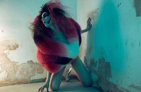 Oversized Colorful Fur Fashion