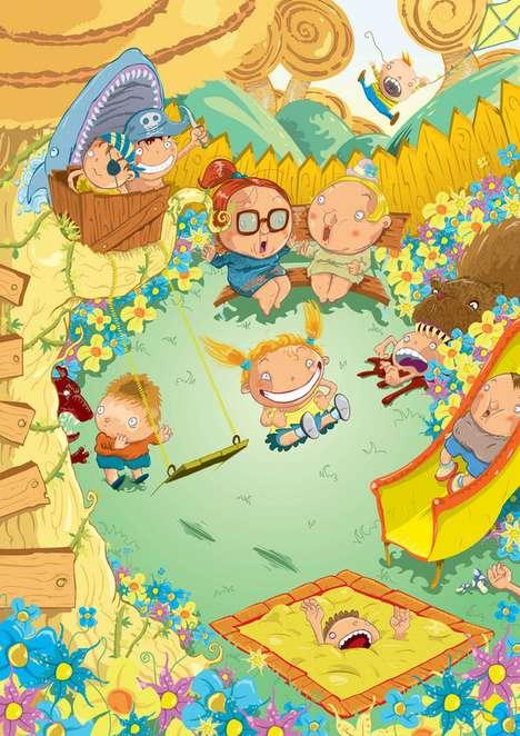 Vibrant Childhood Illustrations