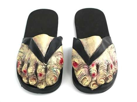 Living Dead Footwear - These Zombie Sandals Will Kill You With Their Quirky Comedy