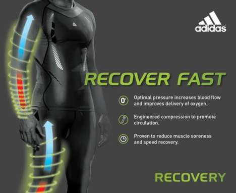 Fatigue-Fighting Sportswear - Adidas Recovery is Designed to Keep You Playing at Peak Performance