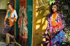 Culturally Chromatic Editorials - The Revival of Kebaya Features Exotic Prints and Textures