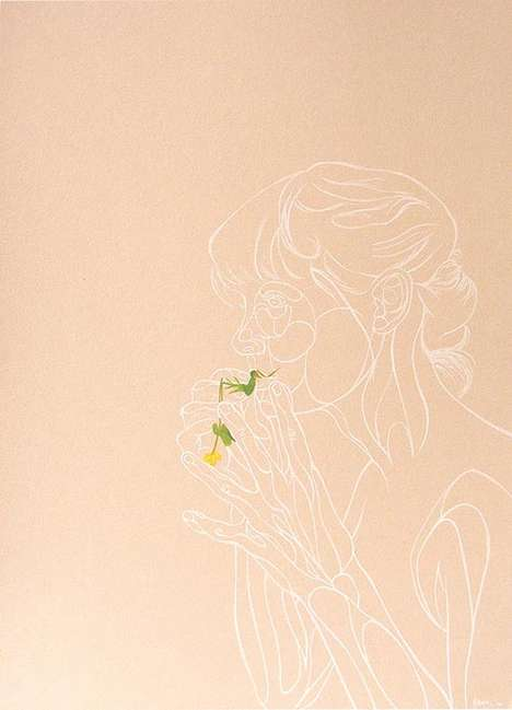 See-Through Flower Illustrations