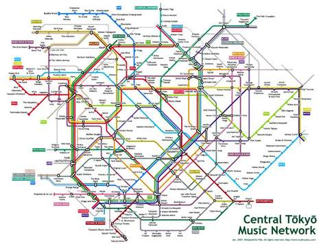The Tokyo Music Subway Map Charts the City's Musical Scenes