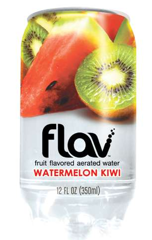 Hybrid Bottled Beverages - Flav Water Packs Bold Flavor into Innovative Packaging