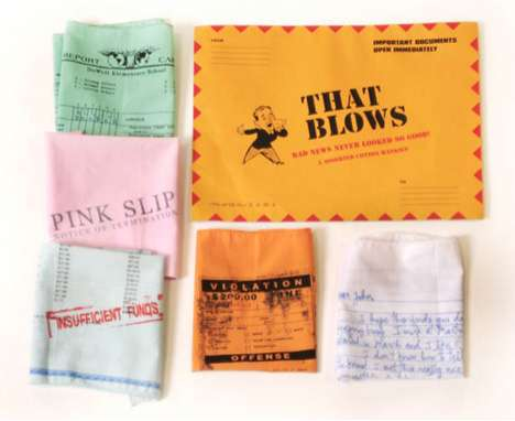 The 'That Blows' Hanky Set Lets You Blow Your Nose on a Parking Ticket