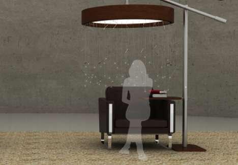 Lamp-Defined Desks