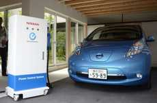 Electric Car Power Plants - The Nissan Leaf Power Supply System Can Power a Home for Two Days