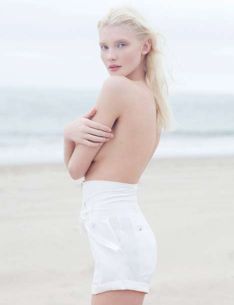 Blonde Bombshell Beach Shoots
