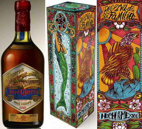 Tattoo-Etched Tequila Bottles