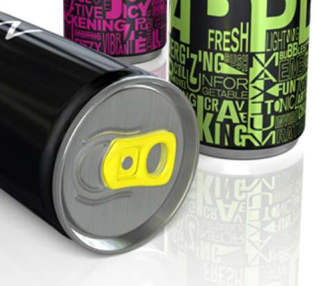 Neon Beverage Cans