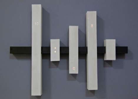 Barred Wall Clocks