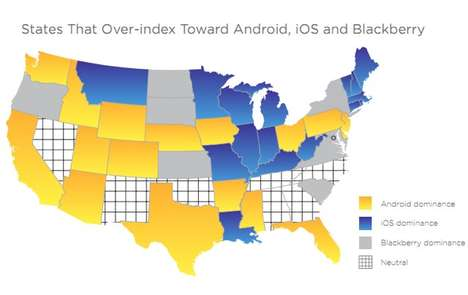 The Smartphone Map Indicates the Device Each State Prefers