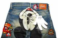 Expressive Disney Jeans - CLOT 'Mickey Mouse Patch' Denim Pays Homage to a Cartoon Favor