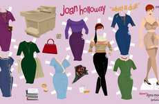 Delicate Dolly Dress-Ups - Joan Holloway Paper Dolls Lets You Try Clothes on the Shapely Character