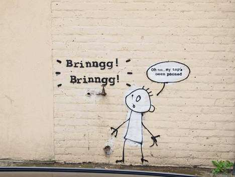 Phone-Hacking Graffiti