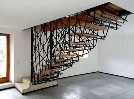 Tangled Steel Stairways