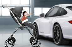 Sports Car Strollers - The Porsche Design P'4911 Will Give Your Baby a Need for Speed