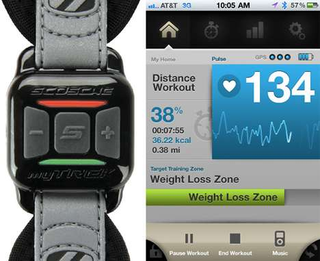 Wireless Pulse Monitors - Scosche myTREK Keeps Track of your Health without Tangled Wires