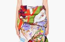 Thrifty Couture Fashion - The Commes Des Garcons Vintage Scarf Skirt Reuses Stylish Pieces