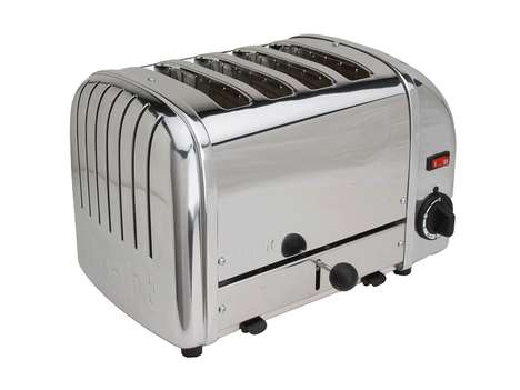 Chromed Four-Slice Toasters
