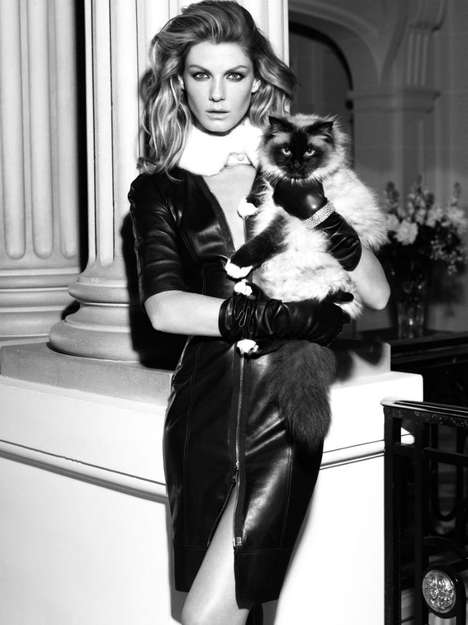 The Classy Angela Lindvall Georges Rech Fall 2011 Shoot
