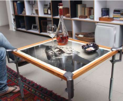 C-Clamp Coffee Tables - Make-a-Table Lets You Turn Any Object into an Original Piece of Furniture