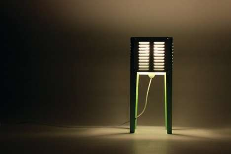 Louvered Table Lamps