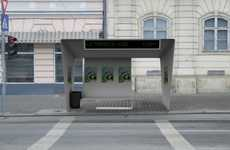 Bent Contemporary Benches - This Bus Shelter by Simon George Embodies a Streamlined Ideal