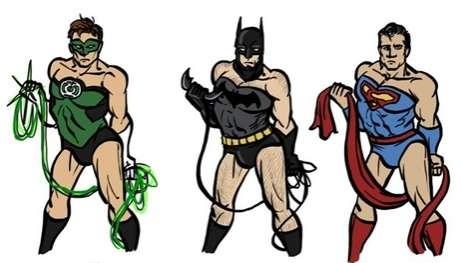 Androgynous Male Superheros