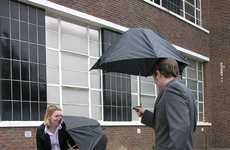 Squirt Gun Parasols - Alex Woolley Designs an Umbrella that Encourages Playing in the Rain