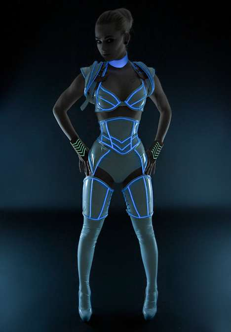 Tron-Inspired Illuminated Costumes - Artifice Clothing Channels the Sci-Fi Film's Signature Glow