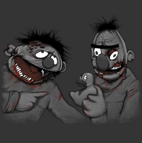 Zombified Muppet Roommates