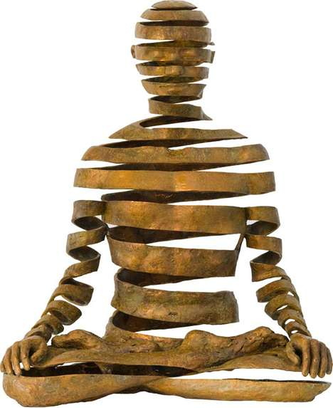 Spiritual Slivered Sculptures - Sukhi Barber Interprets Buddhist Philosophy with Bronze Casting