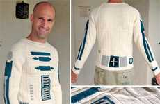 Cozy Sci-Fi Knitwear - The Star Wars R2D2 Sweater is Both Geek and Chic