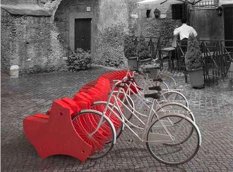 Rotating Bike Lock Benches