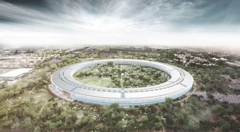Extraterrestrial-Inspired Offices - The Design for Apple HQ Has a Distinct Spaceship Structure