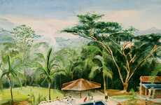Exotic Family Vacation Paintings - The Adam de Boer 'Finca' Series Documents Columbia Days