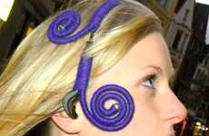 Eco Hairband Headsets - The Costavolcano Headphones are Made of Old Headphone Parts