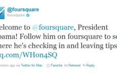 Inaugural Presidential Check-Ins - Obama Has Joined Foursquare to Connect With Voters