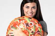Cuddly Fast-Food Cushions - The Pizza Pie Pillow Will Have You Craving A Slice Of This Savory Dish