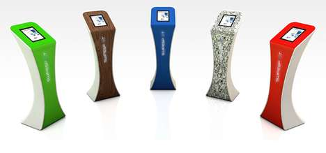 Branded Tablet Stands - The Studio Uberdutch Swipespot Kiosk Heightens the iPad Experience